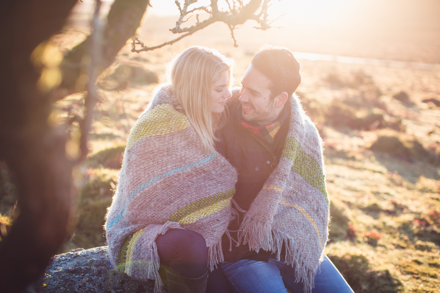 wedding photographer devon couples engagement shoot dartmoor
