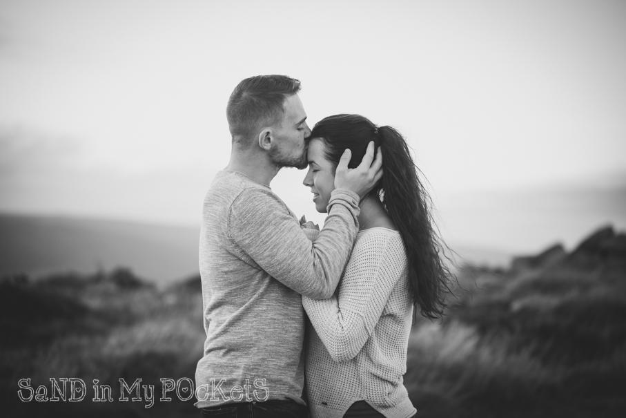 sweet couple dartmoor engagement shoot devon