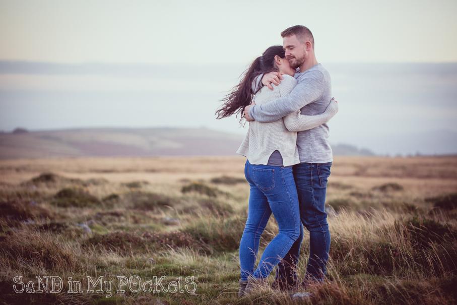 dartmoor wedding photographer devon engagement shoot