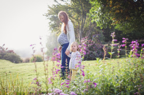 mother and daughter dartmoor maternity photoshoot